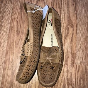 Isaac Mizrahi Live leather driving moccasins